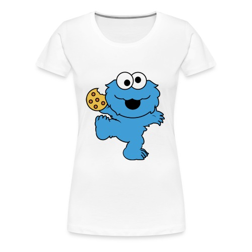 Dancing cookie monster mug - Women's Premium T-Shirt