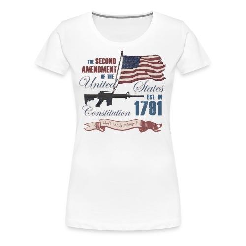 2nd Amendment Est. 1791 - Women's Premium T-Shirt