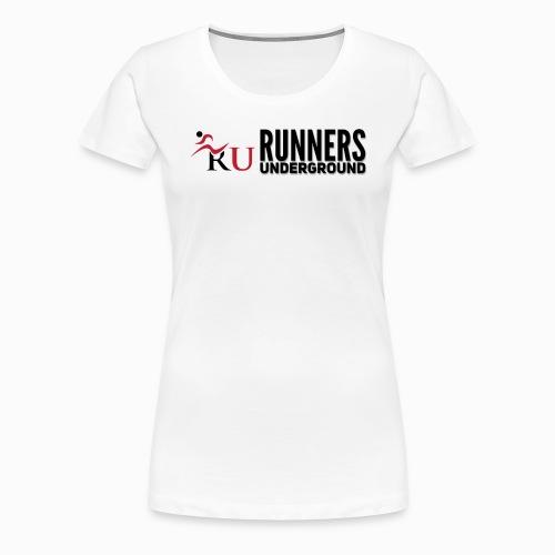 Runners Underground Logo BLK - Women's Premium T-Shirt