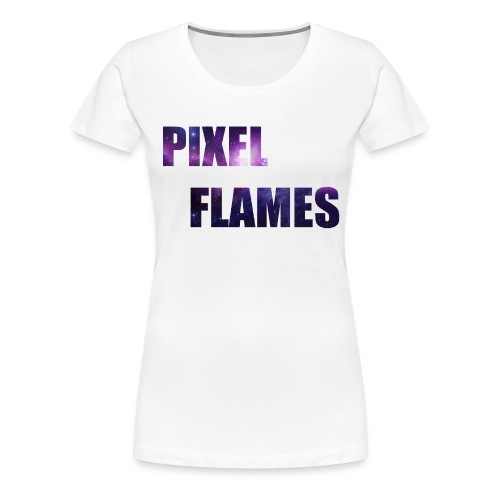 PIXEL FLAMES (Galaxy Edition) - Women's Premium T-Shirt