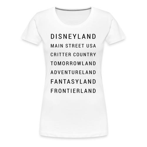 Minimalist Disneyland - Women's Premium T-Shirt
