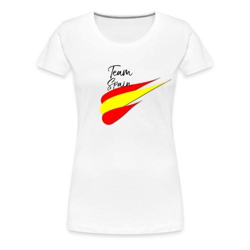 Spanish Football Men Woman Fan T-Shirt TEAM SPAIN - Women's Premium T-Shirt