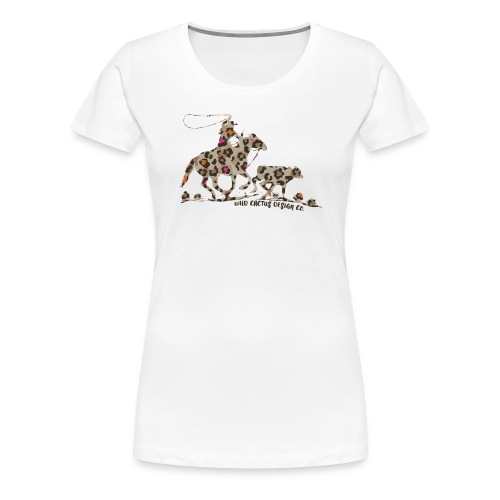 Wild Cheetah Roper - Wild Cactus Design Co. - Women's Premium T-Shirt