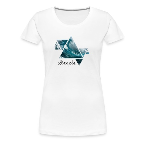 Wave logo(Simple) - Women's Premium T-Shirt
