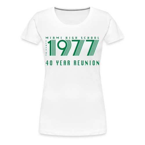 Miami 77 Green Logo - Women's Premium T-Shirt