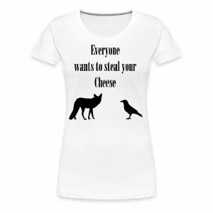 The Fox and the Crow - Women's Premium T-Shirt
