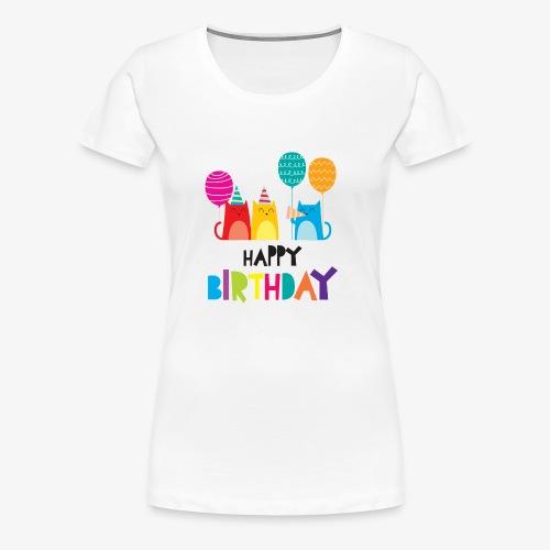 Cats & Happy Birthday - Women's Premium T-Shirt