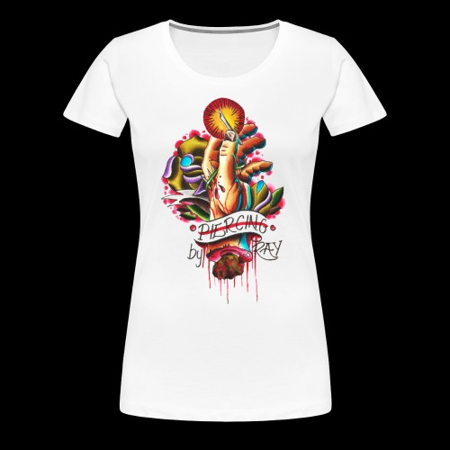 piercing hand - Women's Premium T-Shirt