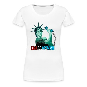 Lady Liberty Blue Teeshirt - Women's Premium T-Shirt