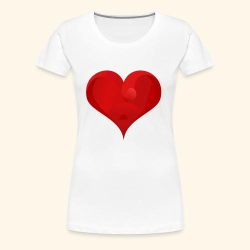Valentine heart - Women's Premium T-Shirt