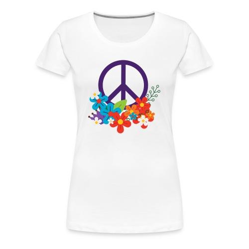 Hippie Peace Design - Women's Premium T-Shirt