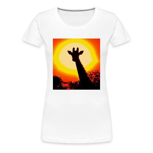 sunset giraffe - Women's Premium T-Shirt