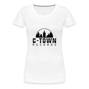 C-TOWN RECORDS LOGO WHITE - Women's Premium T-Shirt