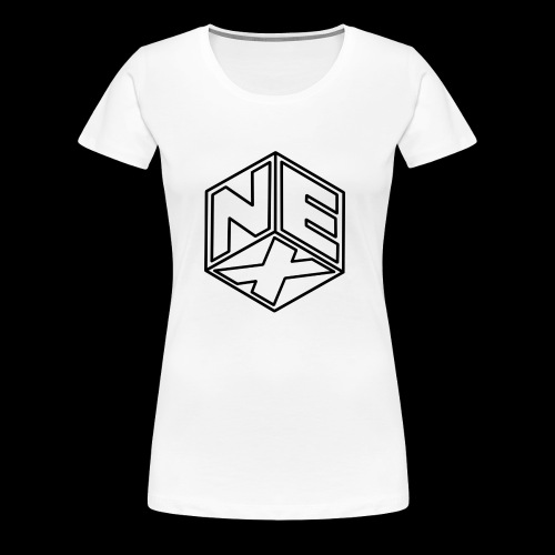 Nexagonal Logo (White_ - Women's Premium T-Shirt