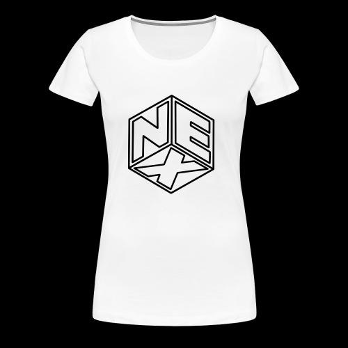 Nexagonal Logo (White_ - Women's Premium T-Shirt