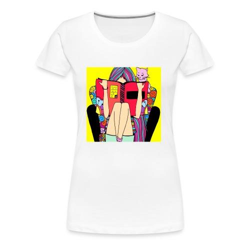Pop art little girl - Women's Premium T-Shirt