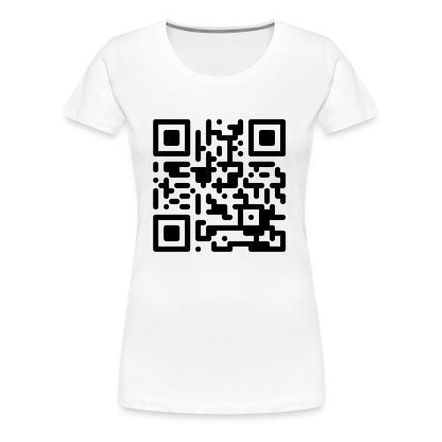QR Codes are Dumb - Black - Women's Premium T-Shirt