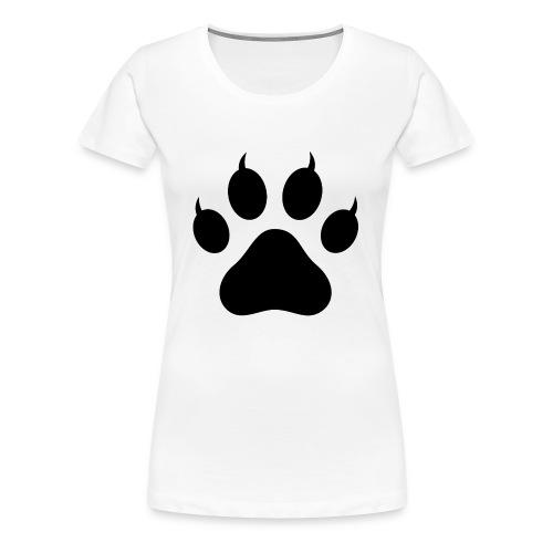 Cat Pawprint - Women's Premium T-Shirt