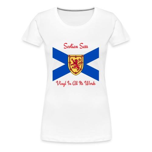 Scotian Sass Transparent - Women's Premium T-Shirt