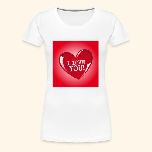 red heart i love you - Women's Premium T-Shirt