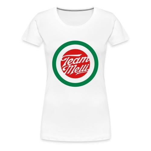 TEAM MELLI RETRO BADGE - Women's Premium T-Shirt