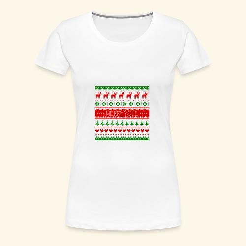 merry yule - Women's Premium T-Shirt
