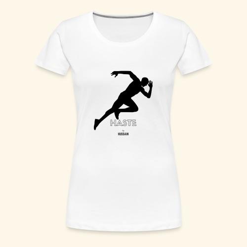 hastebyhussain - Women's Premium T-Shirt
