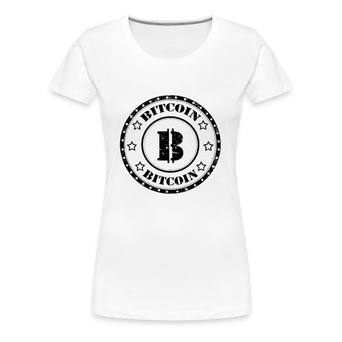 Bitcoin Money Black and White Stars - Women's Premium T-Shirt