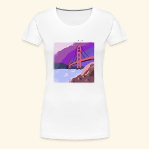 Golden Gate Bridge Hand Drawn - Women's Premium T-Shirt