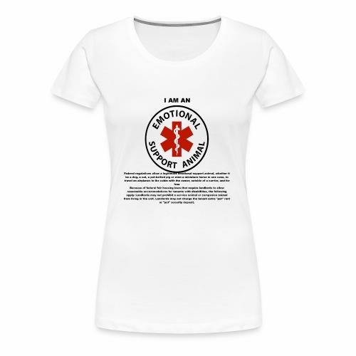 emotional support animal - Women's Premium T-Shirt