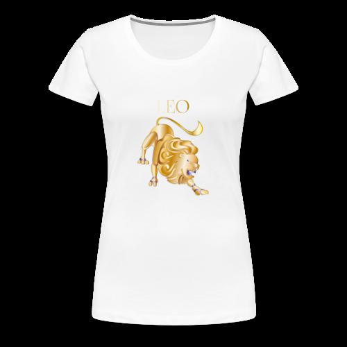 Leo (Purple and Gold) - Women's Premium T-Shirt