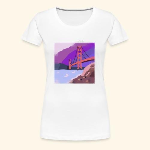 Golden Gate Bridge Hand Drawn - Women's Premium T-Shirt