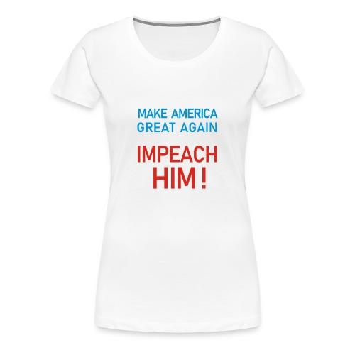 impeach him color - Women's Premium T-Shirt