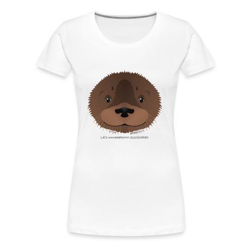 baby otter water slide - Women's Premium T-Shirt