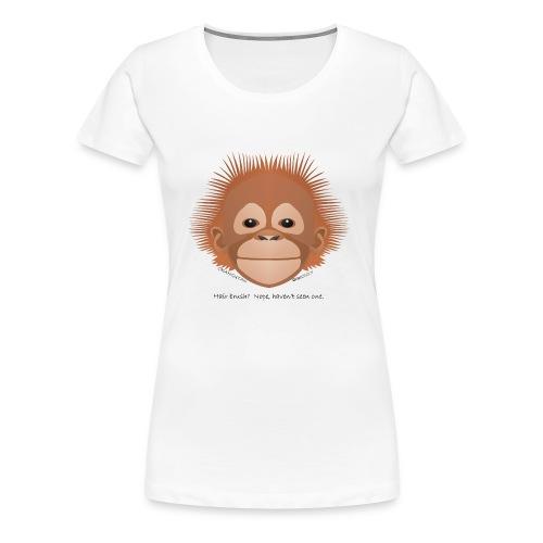 baby orangutan face - Women's Premium T-Shirt