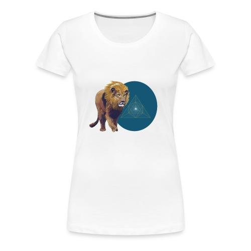 Lion with Tetraeder - Women's Premium T-Shirt