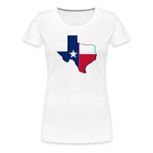 3D Texas - Women's Premium T-Shirt