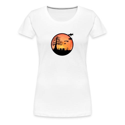 Cemetary At Dusk - Women's Premium T-Shirt