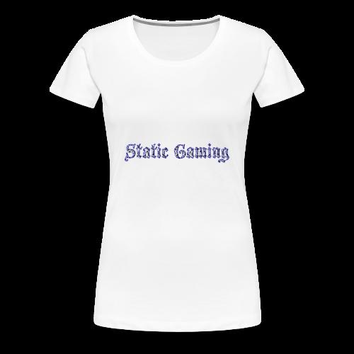 Diamond Static Gaming - Women's Premium T-Shirt