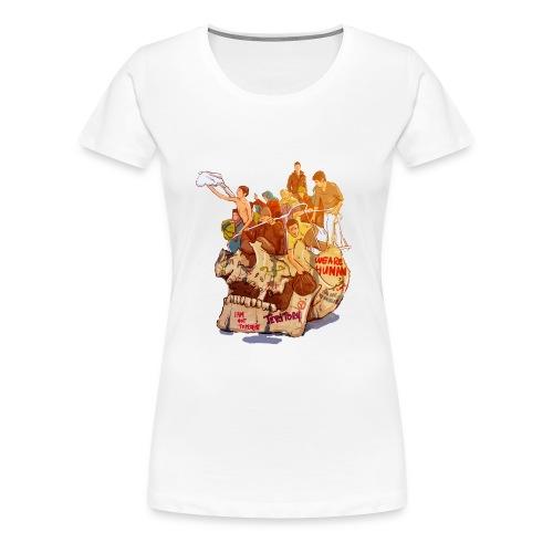Skull & Refugees - Women's Premium T-Shirt