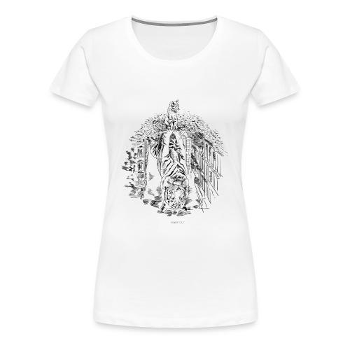Hidden Tiger - Women's Premium T-Shirt