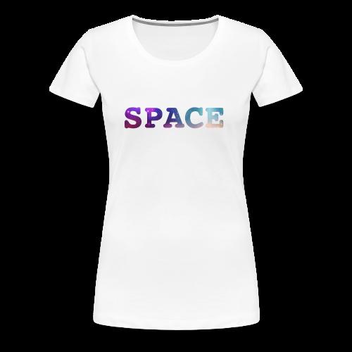 colourful space text - Women's Premium T-Shirt