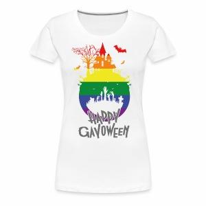 Happy Gayoween LGBT Halloween T-Shirt - Women's Premium T-Shirt