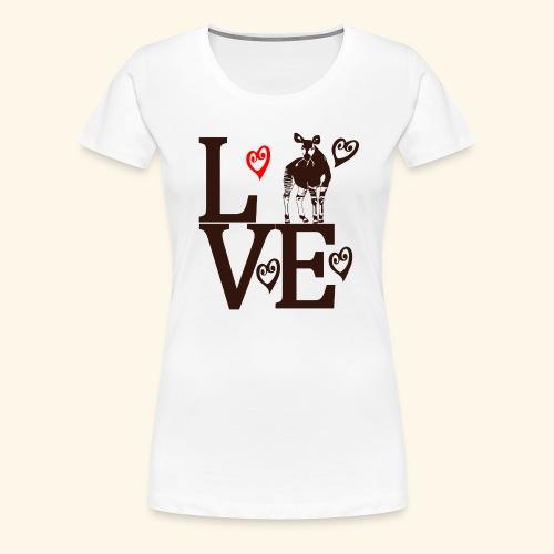 Okapi Love - Women's Premium T-Shirt