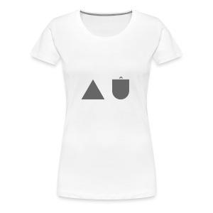 The A U Logo - Women's Premium T-Shirt