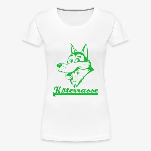 Köterrasse grün - Women's Premium T-Shirt