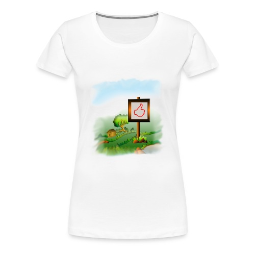Super nature kids love like banner - Women's Premium T-Shirt