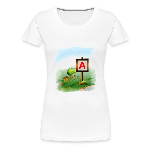 Super nature kids love letter A banner - Women's Premium T-Shirt