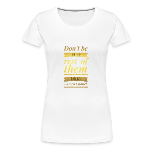 Coco Chanel - Women's Premium T-Shirt