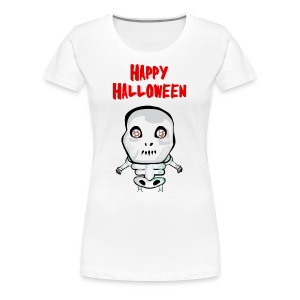 Happy Halloween T-Shirt skull - Women's Premium T-Shirt